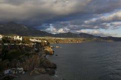 Nerja on Costa del Sol, Malaga, Spain. Nerja, famous resort on Costa del Sol, Malaga, Spain Royalty Free Stock Photos