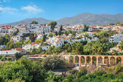 Nerja. Malaga province, Andalusia, Spain. View of Nerja resort town. Costa del Sol, Malaga province, Andalusia, Spain Royalty Free Stock Images