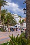 Nerja promenade - Balcón de Europa Stock Images