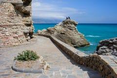 Nerja Sea Promenade in Spain Stock Photos