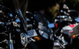 NERJA, SPAGNA - 10 giugno 2018 raduno del motociclo nel Anda famoso immagini stock