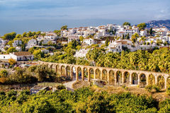Nerja, Spain. Amazing panoramic view of the Nerja.   Costa del Sol, Province of Malaga, Andalusia, southern Spain Royalty Free Stock Photos