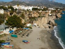 Nerja - Spain - Costa Del Sol Royalty Free Stock Photography