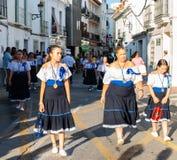 NERJA SPANIEN - JULI 16, 2018 ståtar ettåriga växten i den kust- Andaluen Arkivfoton