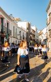 NERJA SPANIEN - JULI 16, 2018 ståtar ettåriga växten i den kust- Andaluen Royaltyfria Foton