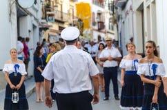NERJA SPANIEN - JULI 16, 2018 ståtar ettåriga växten i den kust- Andaluen Fotografering för Bildbyråer