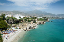 Nerja on the Spanish Mediterranean seacoast Royalty Free Stock Photos