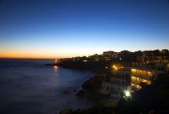 nerja sunset view στοκ εικόνες με δικαίωμα ελεύθερης χρήσης