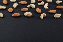 Nerkodrzewów nasiona na czerni Obrazy Royalty Free