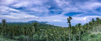 Nerntaewada Khanom havssikt i Thailand arkivfoton