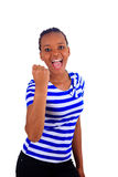 Nero africano della donna il bello giovane isolato Immagini Stock Libere da Diritti