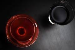Nero & colore rosso Fotografia Stock Libera da Diritti