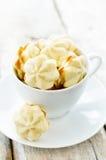 Nero dei biscotti con formaggio cremoso Fotografia Stock