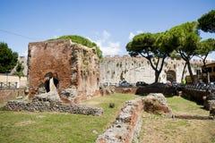 Nero skąpań ruiny w Pisa obraz royalty free
