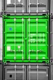 Nero verde/bianco del contenitore immagine stock libera da diritti