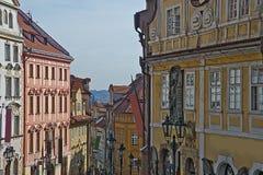 Nerudovastraat, Praag, Tsjechische Republiek Stock Afbeeldingen