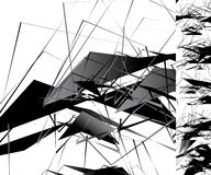 Nervöse einfarbige Illustration mit geometrischen Formen Abstraktes geo Stockfoto