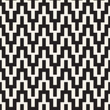 Nervöse Halbtonlinien Mosaik-endlose stilvolle Beschaffenheit Vektornahtloses Schwarzweiss-Muster Stockbild