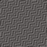 Nervöse Halbtonlinien Mosaik-endlose stilvolle Beschaffenheit Vektornahtloses Schwarzweiss-Muster Stockfotografie