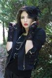 Nervöses gotisches Mädchen Lizenzfreies Stockfoto