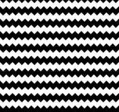 Nervöses nahtlos wiederholbares Zickzackmuster Abstraktes Monochrom vektor abbildung