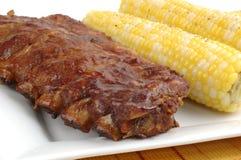 Nervature arrostite col barbecue Fotografia Stock
