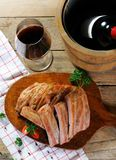 Nervature con vino fotografie stock