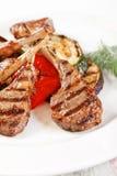 Nervature cotte della carne Immagini Stock