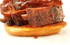 Nervature del barbecue Fotografia Stock