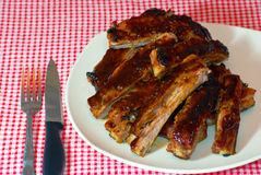 Nervature del barbecue fotografie stock libere da diritti