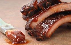 Nervature del BBQ Fotografia Stock
