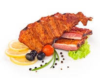 Nervature di porco affumicate immagini stock