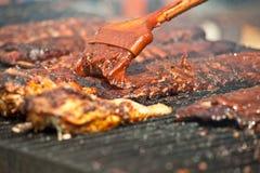 Nervature sul barbecue. Fotografia Stock Libera da Diritti
