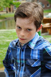 Nerved  boy Royalty Free Stock Images