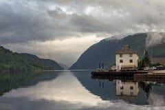 Nerven Fjord Stockbilder