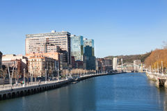Nervión river in Bilbao, Spain Stock Photography