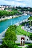 NerviÃ-³ n Fluss Bilbao Stockfotografie