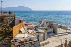 Nervi seafront resort in Genoa Royalty Free Stock Photos