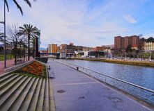 Nervion River in Bilbao Royalty Free Stock Photos