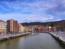 Nervion River in Bilbao Royalty Free Stock Photo