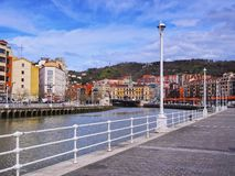 Nervion River in Bilbao Royalty Free Stock Image