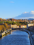 Nervion River in Bilbao Royalty Free Stock Images