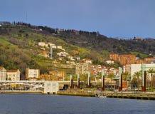 Nervion River in Bilbao Stock Photo