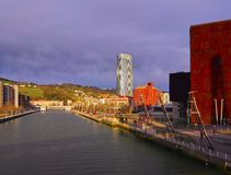 Nervion River in Bilbao Stock Photography
