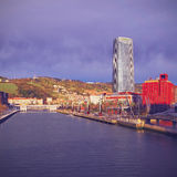 Nervion River in Bilbao Stock Image