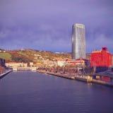 Nervion River in Bilbao Stock Image