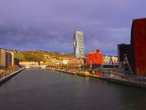 Nervion River in Bilbao Stock Images