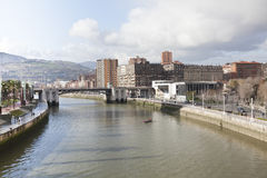 Nervion river of Bilbao, Spain Stock Photo