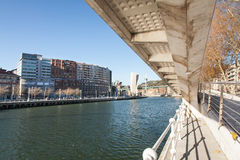 Nervion River in Bilbao, Spain Royalty Free Stock Image