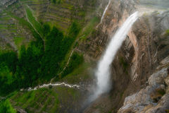 Nervion river source and waterfall Royalty Free Stock Photography
